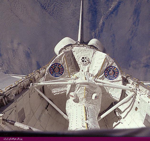 ایستگاه فضایی اسپیسلب در داخل شاتل فضایی