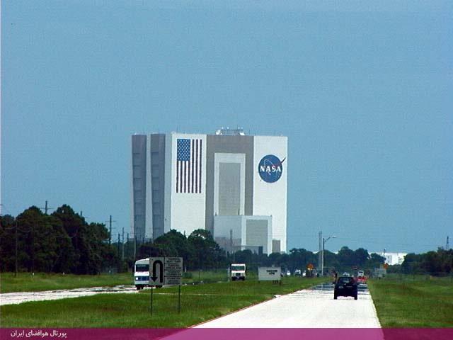 ساختمان مونتاژ وسیله شاتل فضایی در مركز فضایی كندی