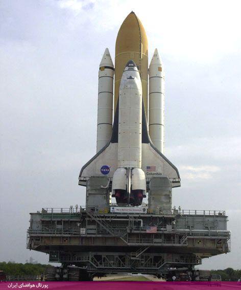 حمل شاتل فضایی بر روی كراولر