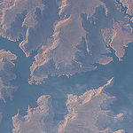 ISS043E182470 (05/08/2015) --- NASA astronaut Scott Kelly aboard the International Space Station on May 8th, 2015 captured this image in the United States southwest area  of  lower Lake Powell, Glen Canyon, Utah.