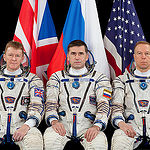 JSC2015E053686 (04/30/2015) --- Expedition 44 backup crew ESA (European Space Agency) astronaut Timothy Peake (left), Russian cosmonaut Yuri Malenchenko (ROSCOSMOS) (center), and NASA astronaut Timothy L. Kopra .