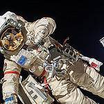 Oleg Kotov Conducts a Spacewalk