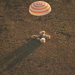 The Soyuz TMA-09M Lands Southeast of the town of Zhezkazgan, Kazakhstan