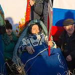 Expedition 37 Commander Fyodor Yurchikhin Holds the Olympic Torch