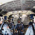 Shuttle Mission Simulator with STS-51L Crew Members