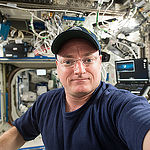 ISS043E279114 (05/30/2015) --- NASA Astronaut Scott Kelly works aboard the International Space Station on May 30, 2015 on a number of science experiments and maintenance of the stations equipment.