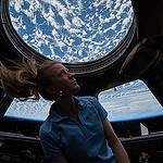 Station Astronaut Karen Nyberg in Cupola