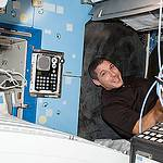 Astronaut Mike Hopkins Works in Station