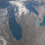 "ISS043E159837 (05/02/2015) --- This image of the American upper Midwest and parts of Canada was captured by NASA astronaut Terry Virts on the International Space Station on May 2, 2015. Virts made this comment with the tweet: ""It"
