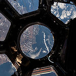 "ISS043E198683 (05/16/2015) --- NASA astronaut Scott Kelly on the International Space Station took this Earth observation photo in the stations cupola that provides a 360 degree view. He tweeted this image with the comment: ""The view out my window. #CapeTown #SouthAfrica. #YearInSpace""."